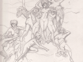 Maenads (pencil sketch)